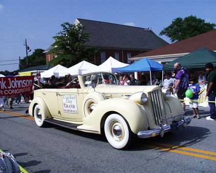 white convertible with grand marshall